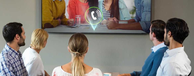 Konferenz Fernseher einrichten